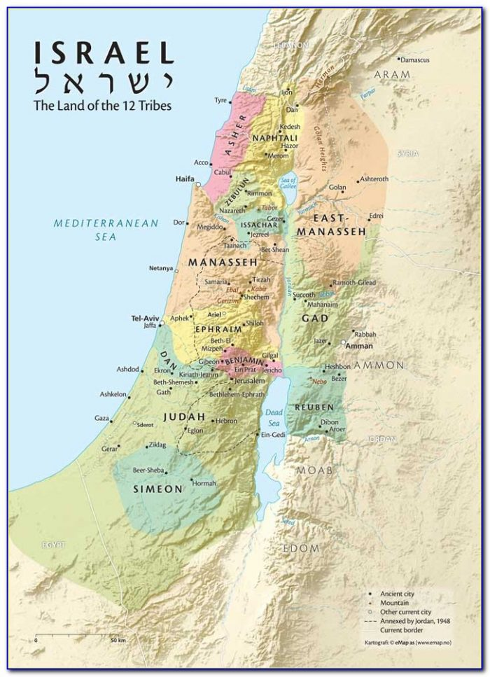 Biblical Map Of Israel And Surrounding Countries