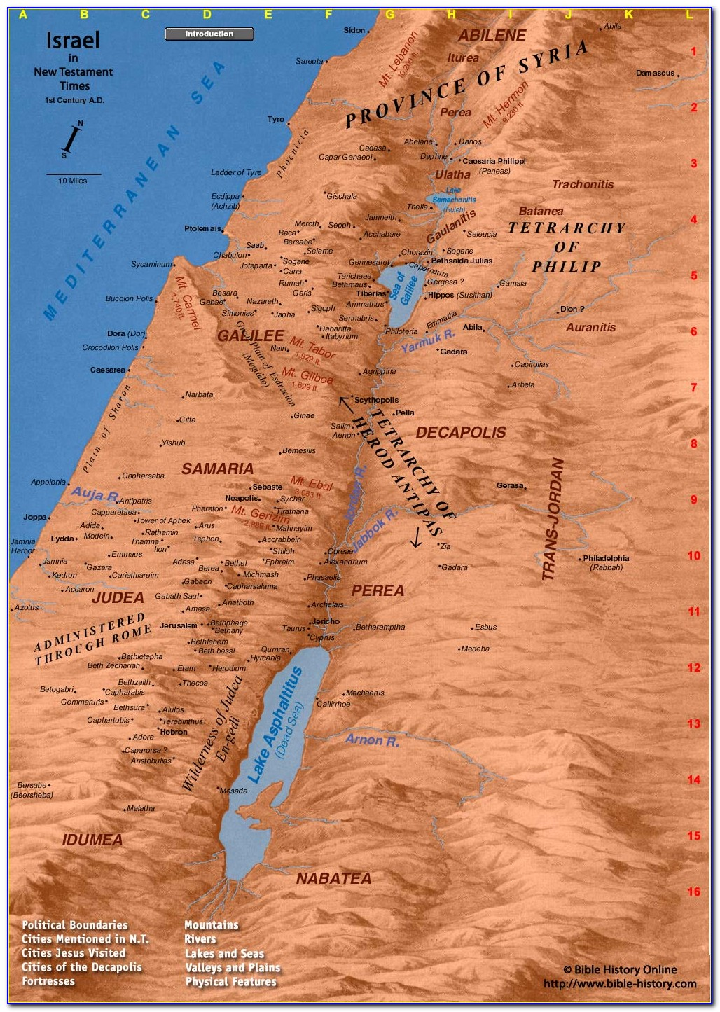 Biblical Map Of Israel New Testament