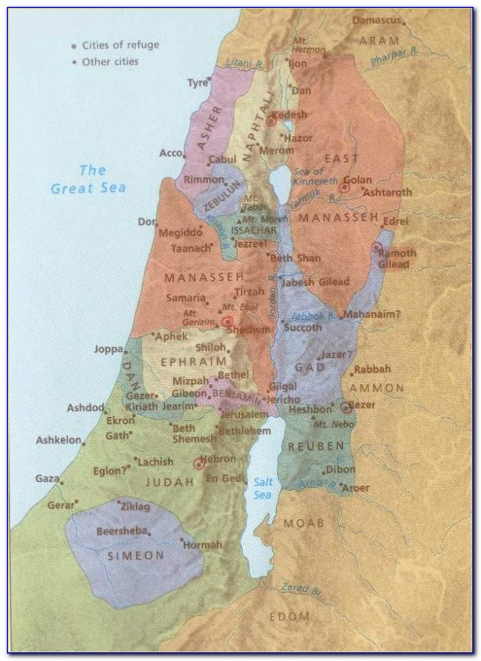 Biblical Map Of Israel Old Testament