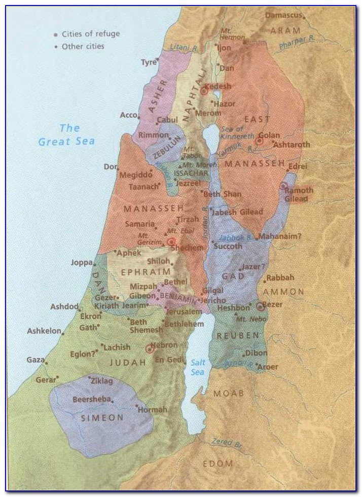 Biblical Map Of Israel Old Testament