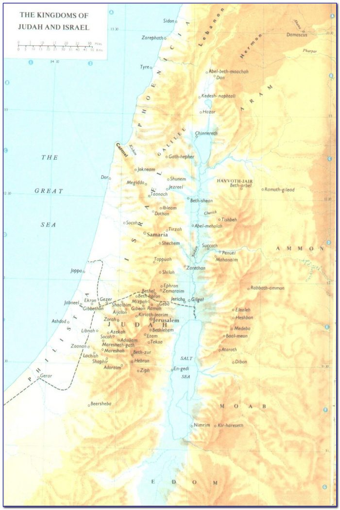 Biblical Map Of Israel Tribes