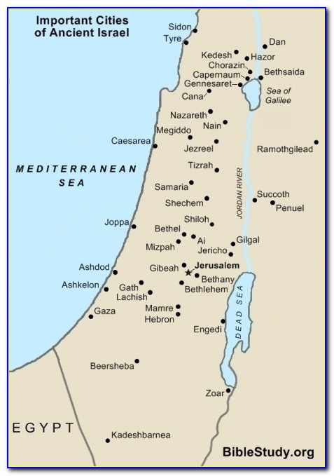 Biblical Maps Of Israel And Judah