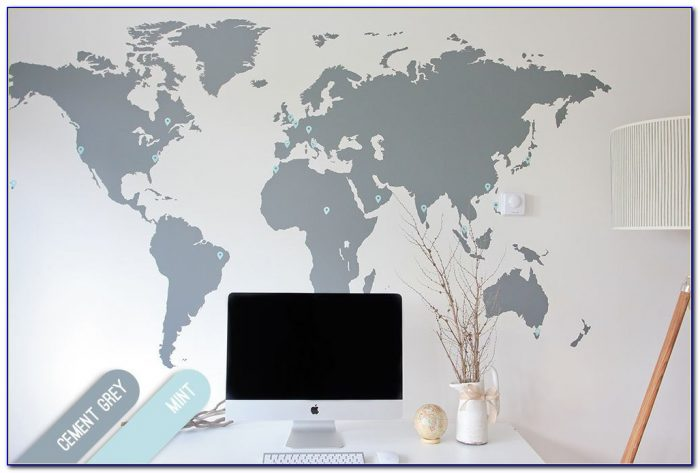 Big World Map Wall Decal
