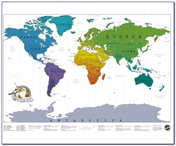Black Gold Scratch Map