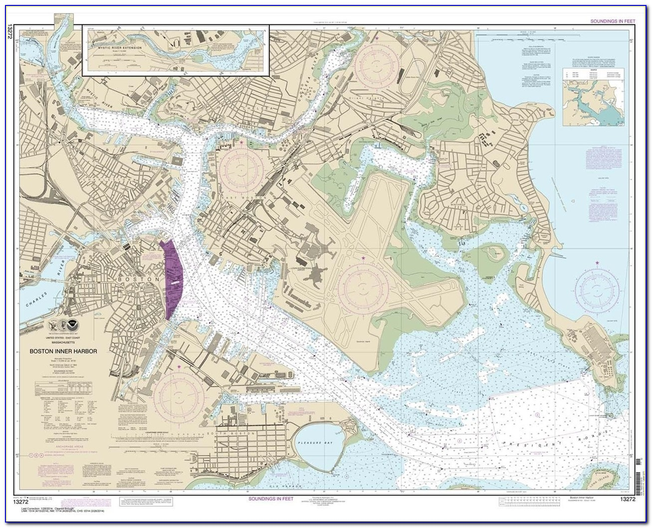 Boston Harbor Boating Map