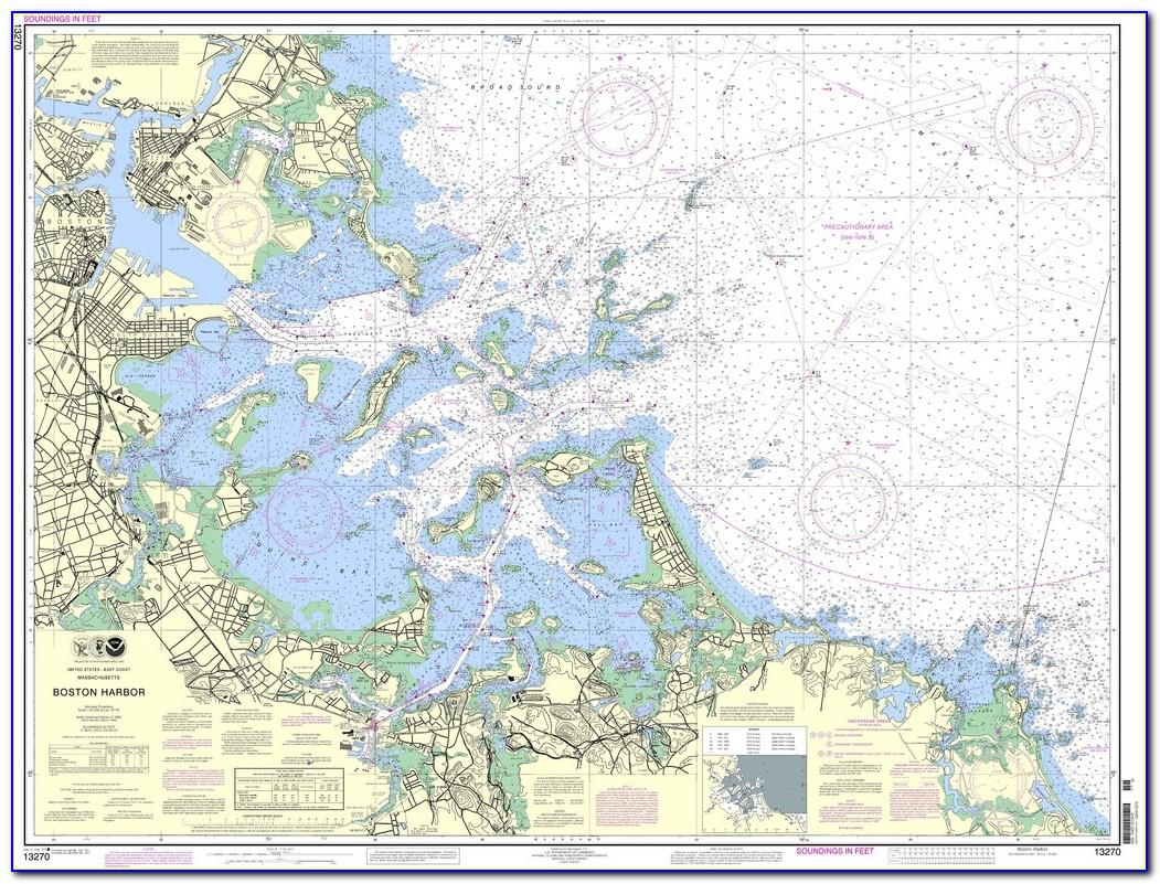Boston Harbor Marine Map