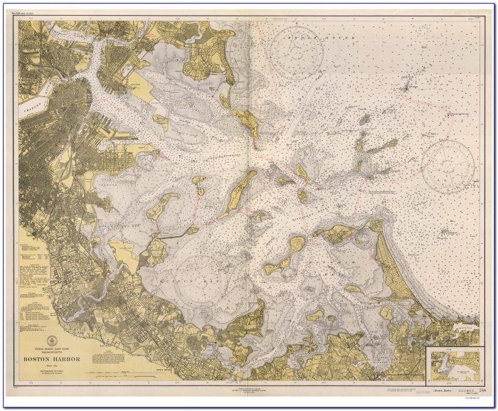 Boston Inner Harbor Nautical Chart