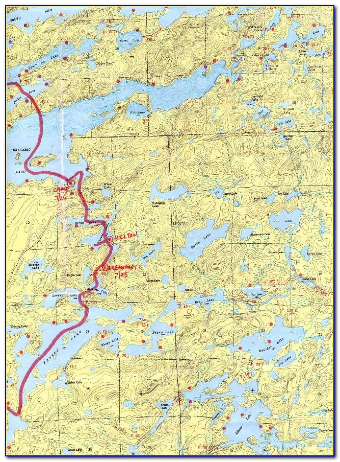 Boundary Waters Canoe Area Wilderness Map