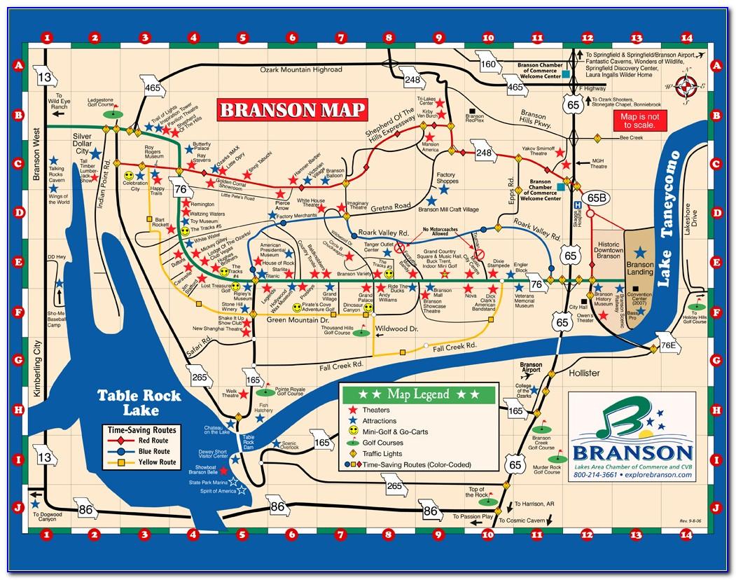 Branson Hotel Map