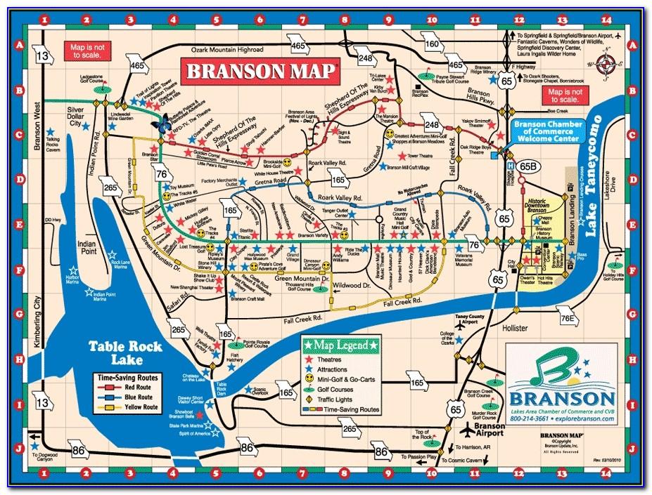 Branson Mo Lodging Map