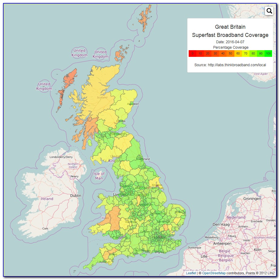 Broadband Q Coverage Map