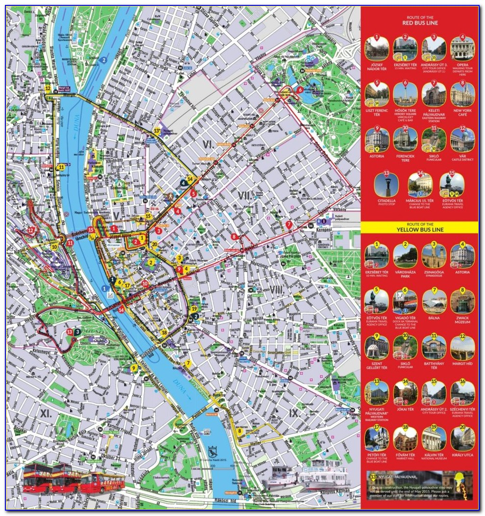 Budapest Hop On Hop Off Bus Route Map Pdf