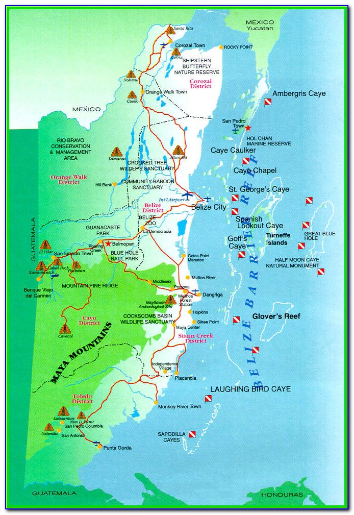 Buy Belize Com Map