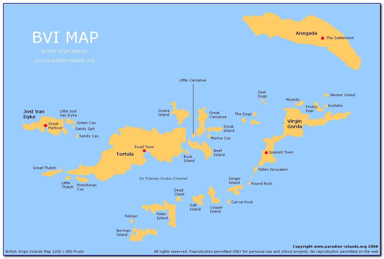 Bvi Map Caribbean