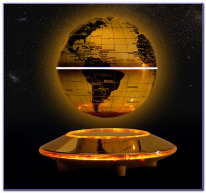 C Shape Magnetic Levitation Floating Globe World Map