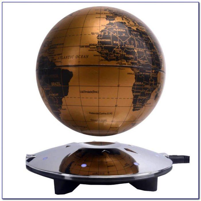 C Shape Magnetic Levitation Floating Globe World Map With Led
