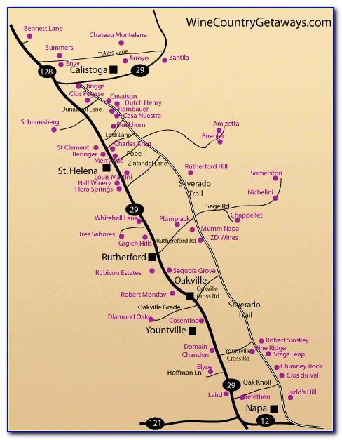 Calistoga Ca Winery Map