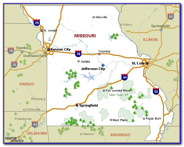 Camping In Missouri Map