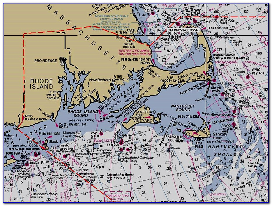 Cape Cod Nautical Chart Wallpaper