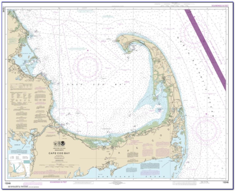 Cape Cod Nautical Map