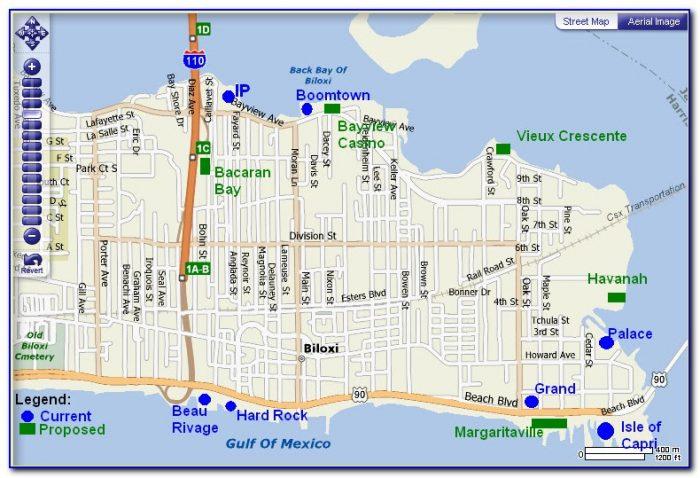 Casinos In Biloxi Map