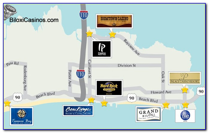 Casinos In Biloxi Mississippi Map