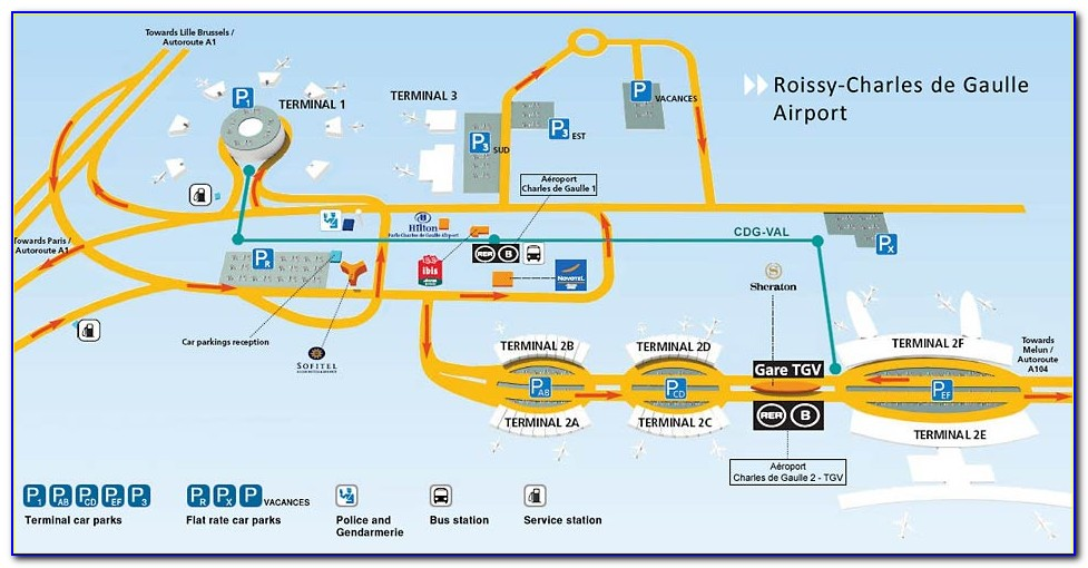 Cdg Airport Map Terminal 2a