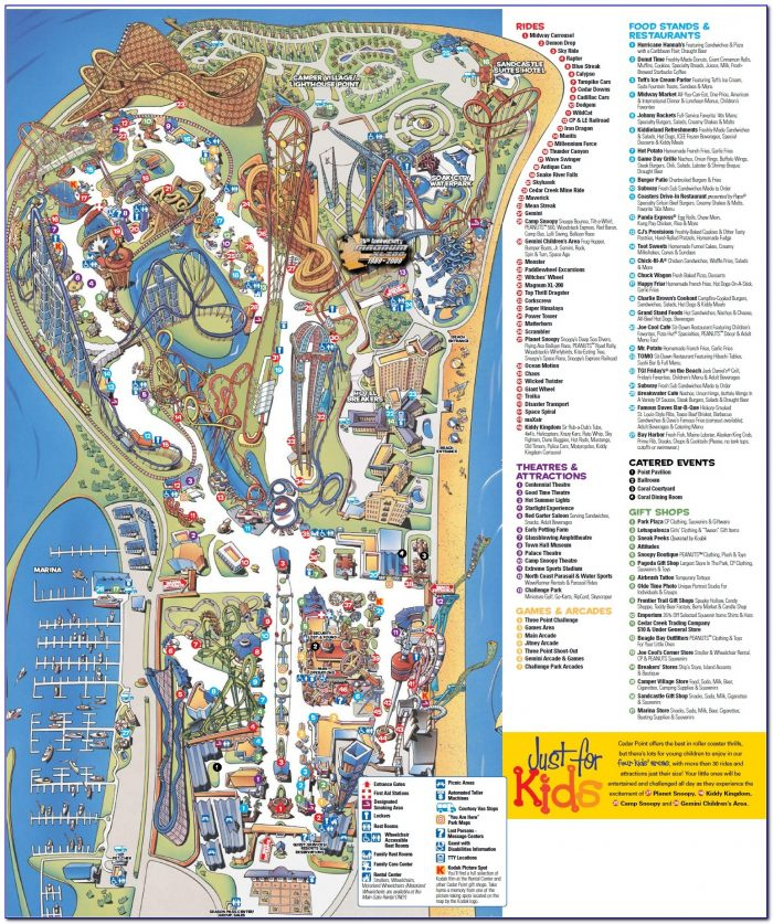 Cedar Point Hotels Map