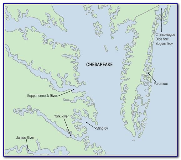 Chesapeake Bay Map Usa