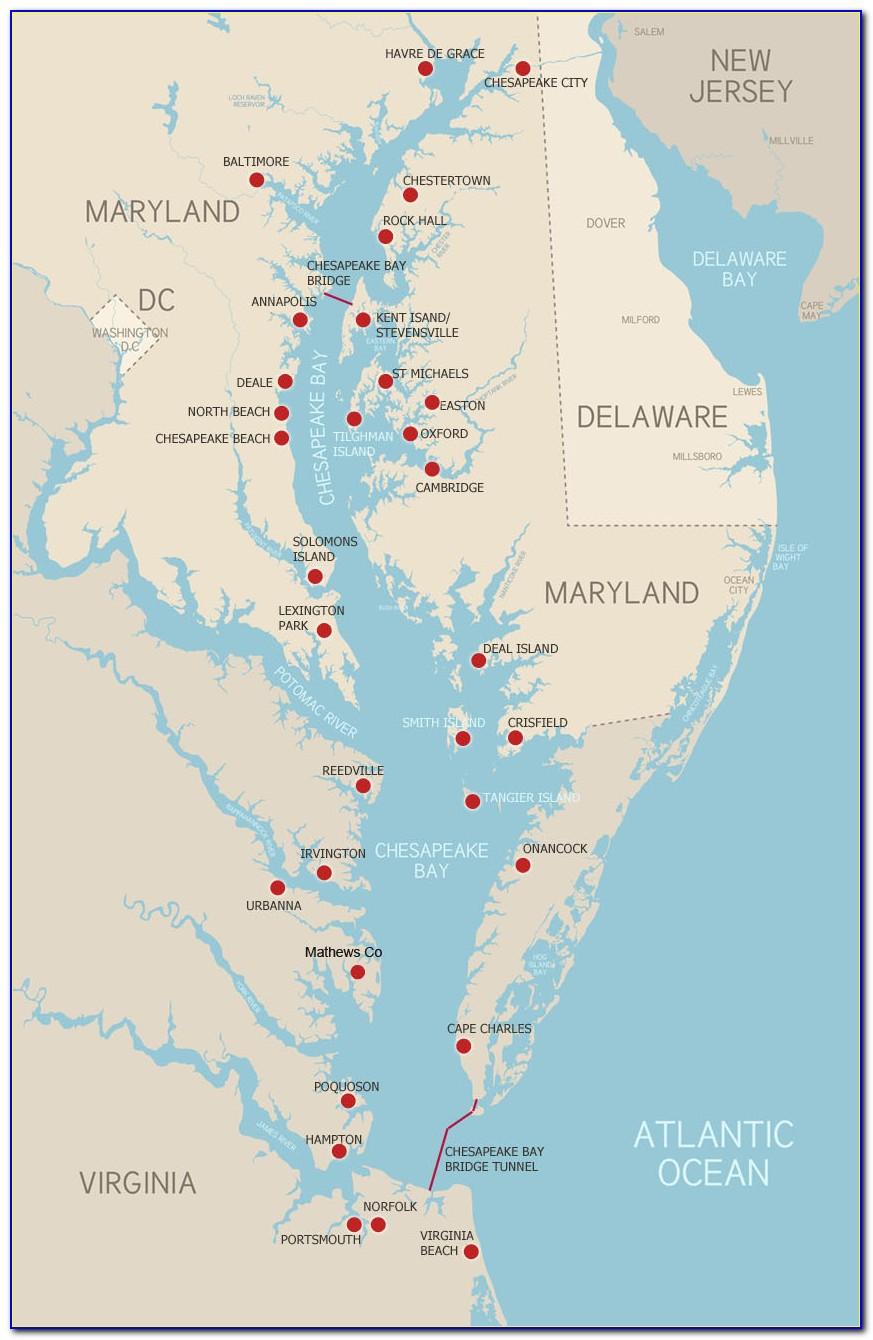 Chesapeake Bay Map Cs5