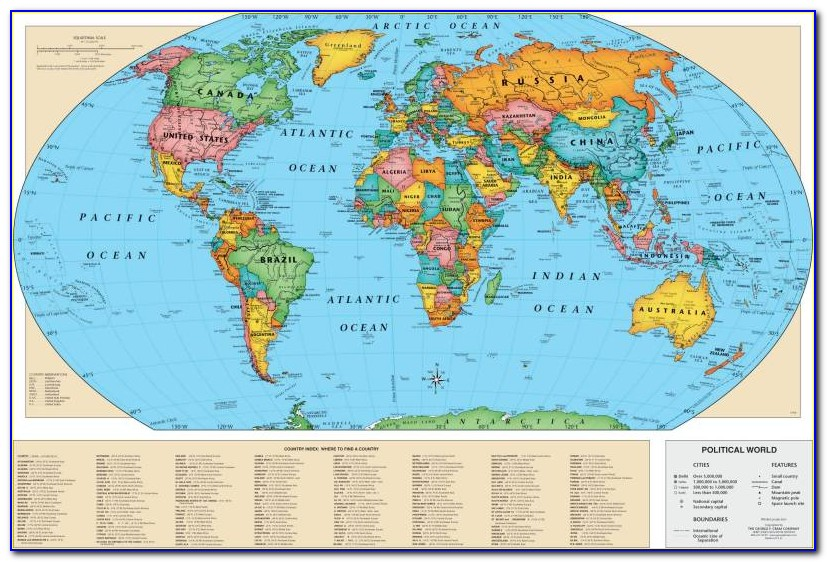 Children's Laminated Map Of The World