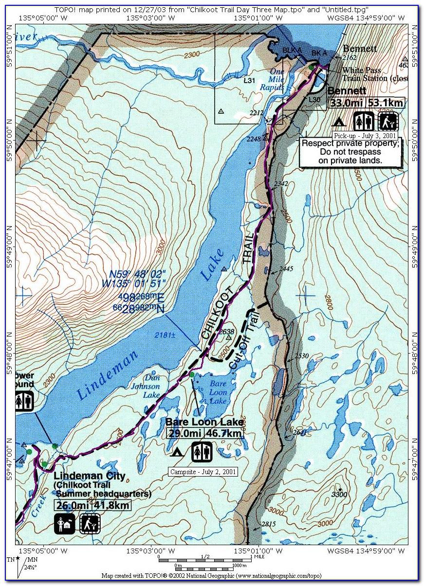 Chilkoot And White Pass Map