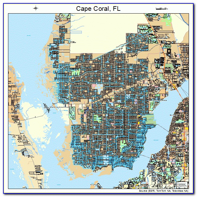 City Street Map Of Cape Coral Fl