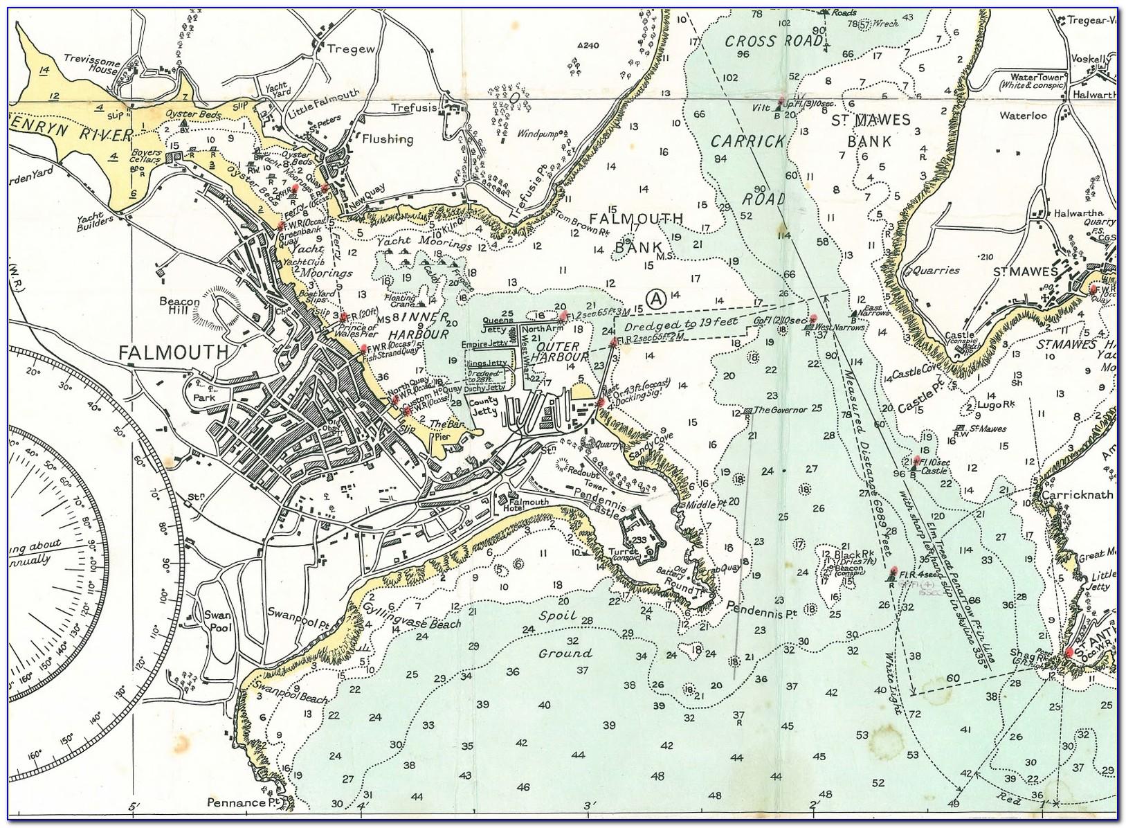 Coastal Maps And Charts Uk