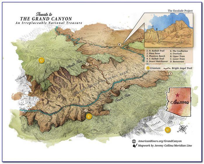 Colorado River Through Grand Canyon Map