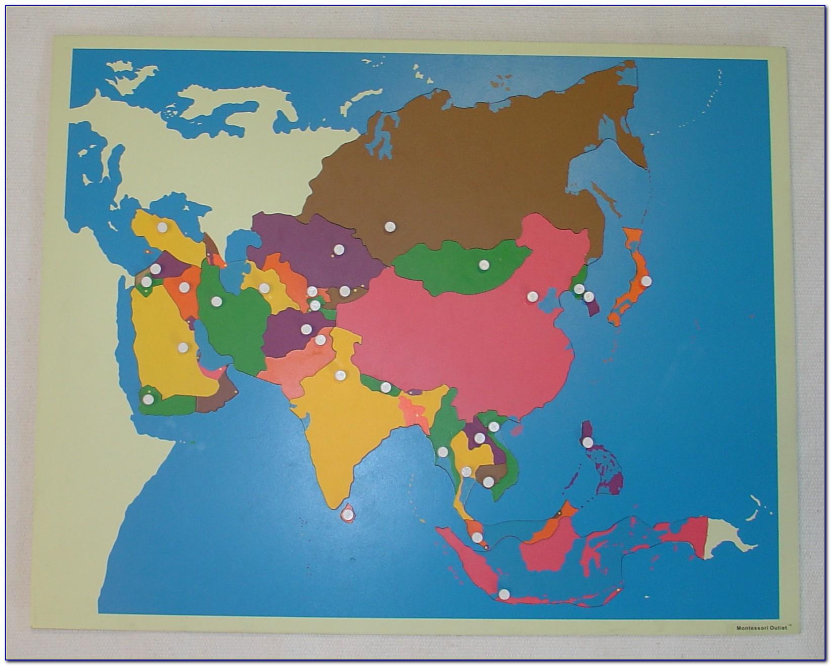 Continent Puzzle Map Montessori