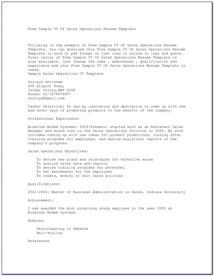 Copies Of Professional Resumes