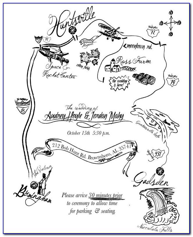Create Map For Wedding Invitation