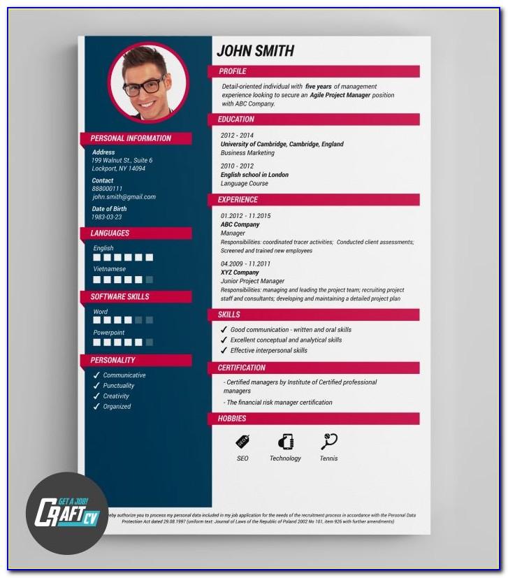 Creative Resume Builder Software