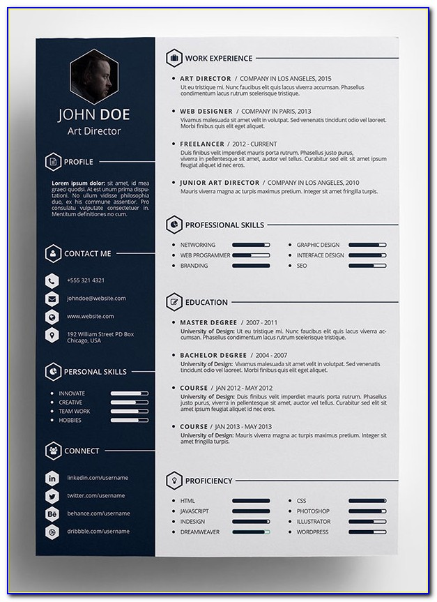Creative Resume Templates Free Download For Photoshop