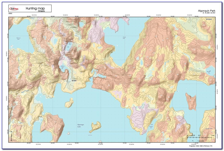 Custom Printed Topo Maps