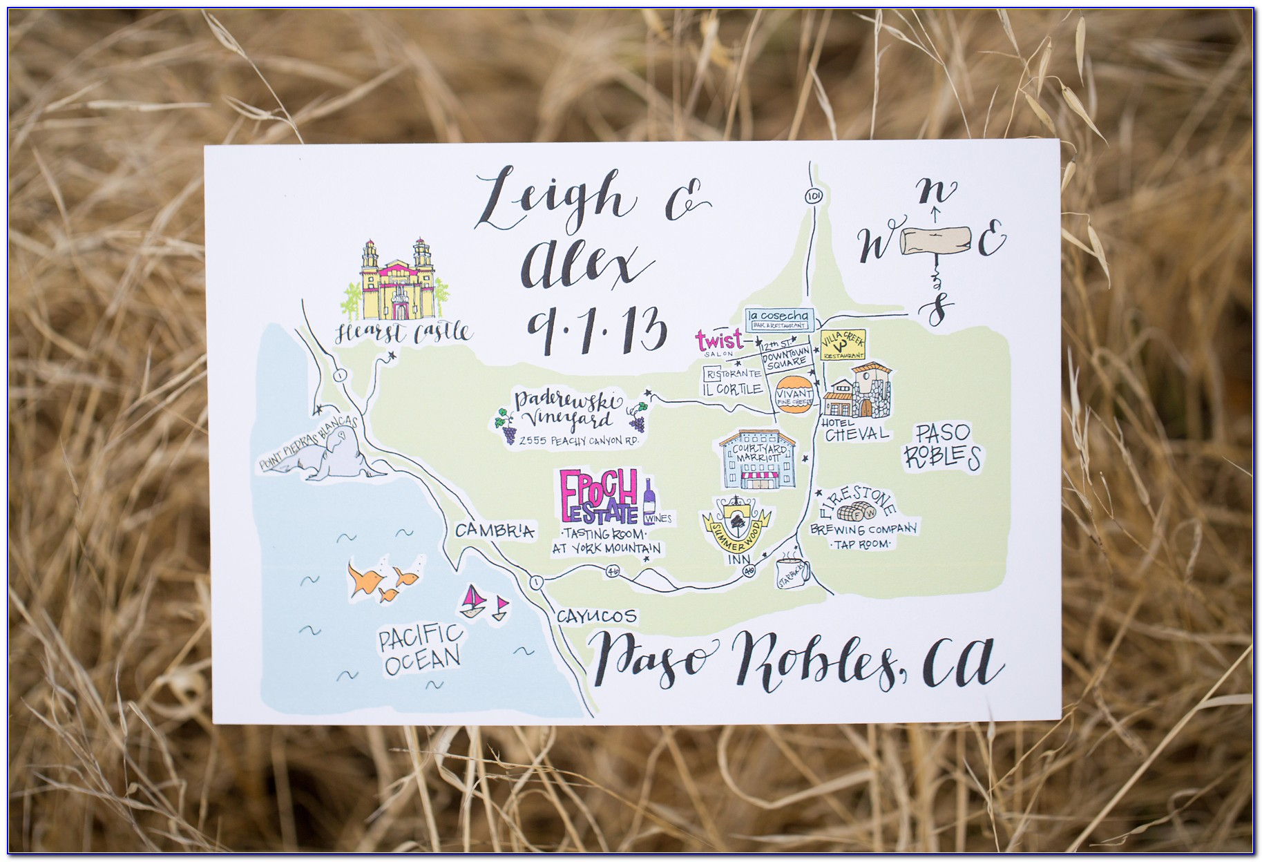 Cute Map Wedding Invites