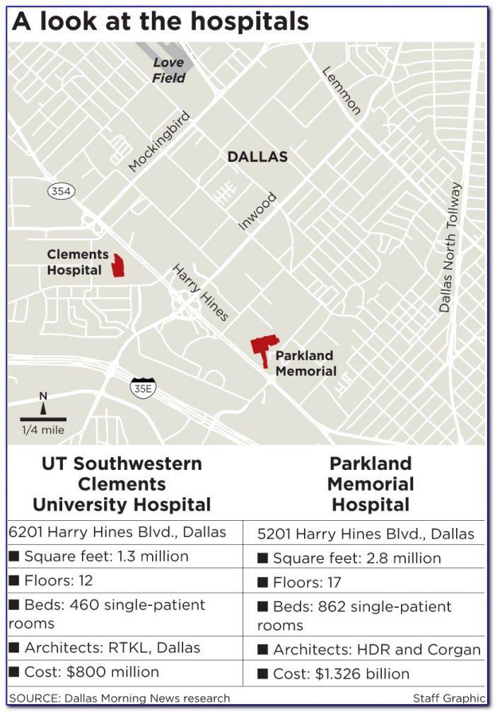 Dallas Hospitals Map