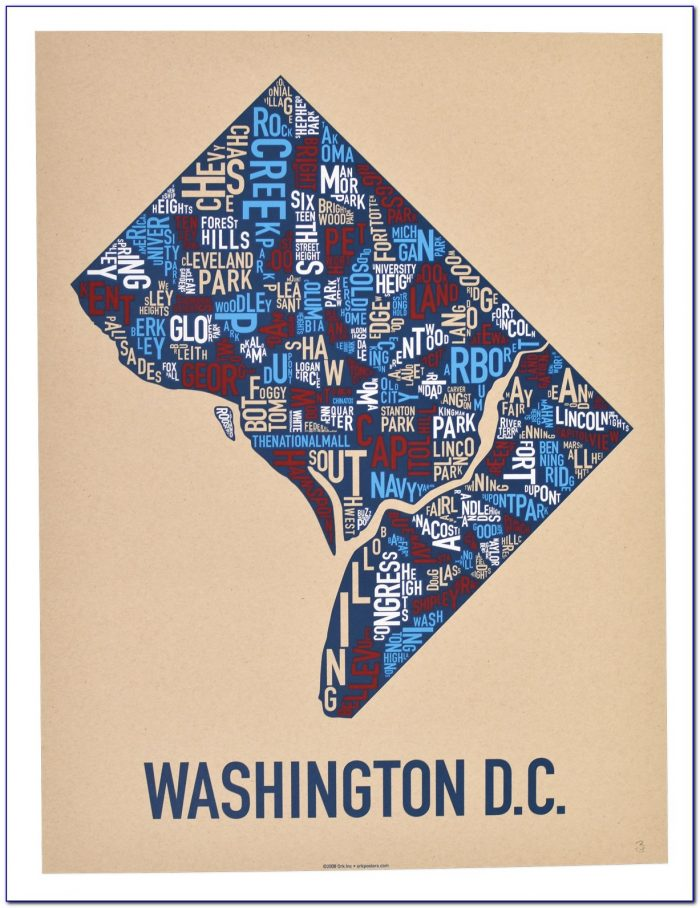 Dc Neighborhood Map Poster