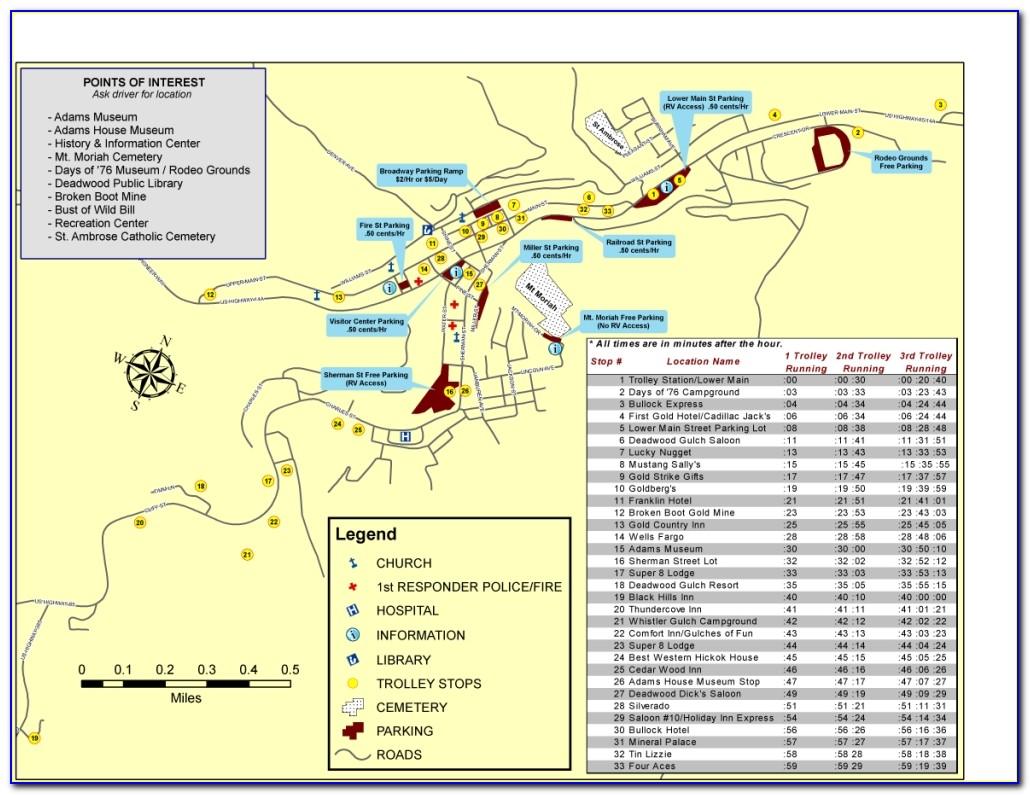 Deadwood Hotel Map