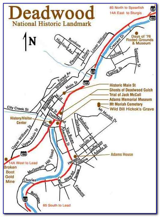 Deadwood Sd Hotel Map