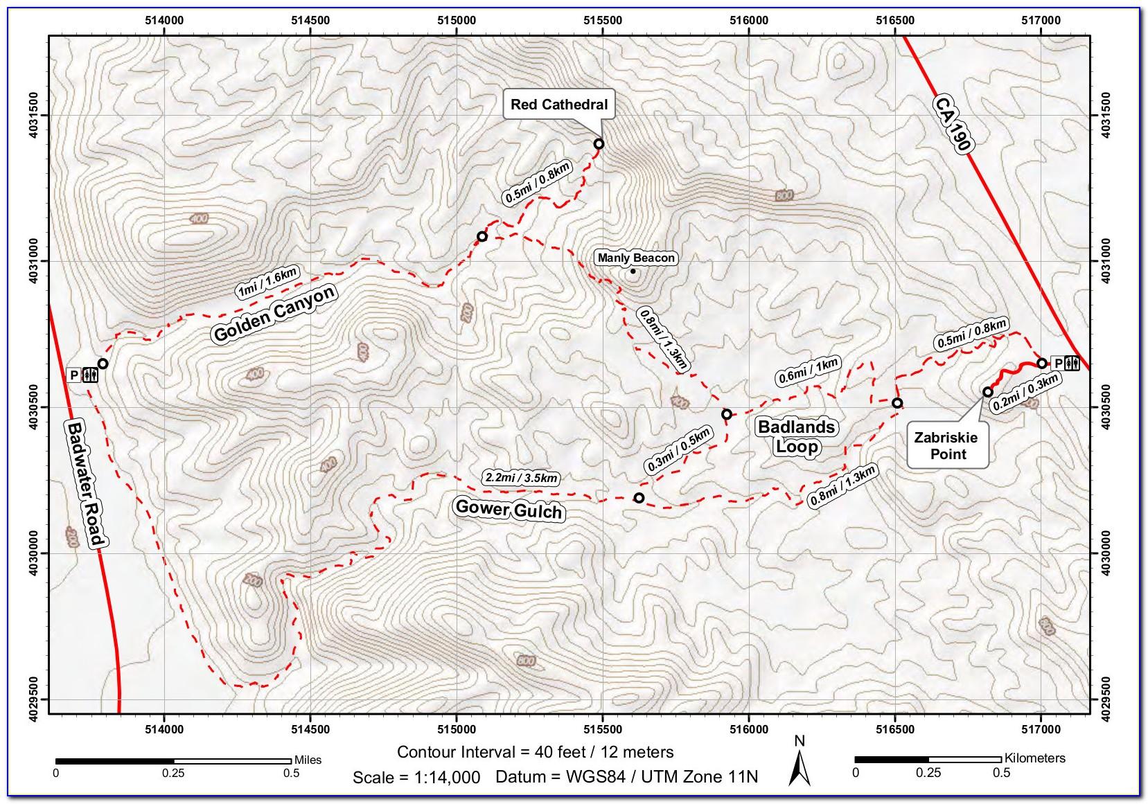 Death Valley Hotel Map