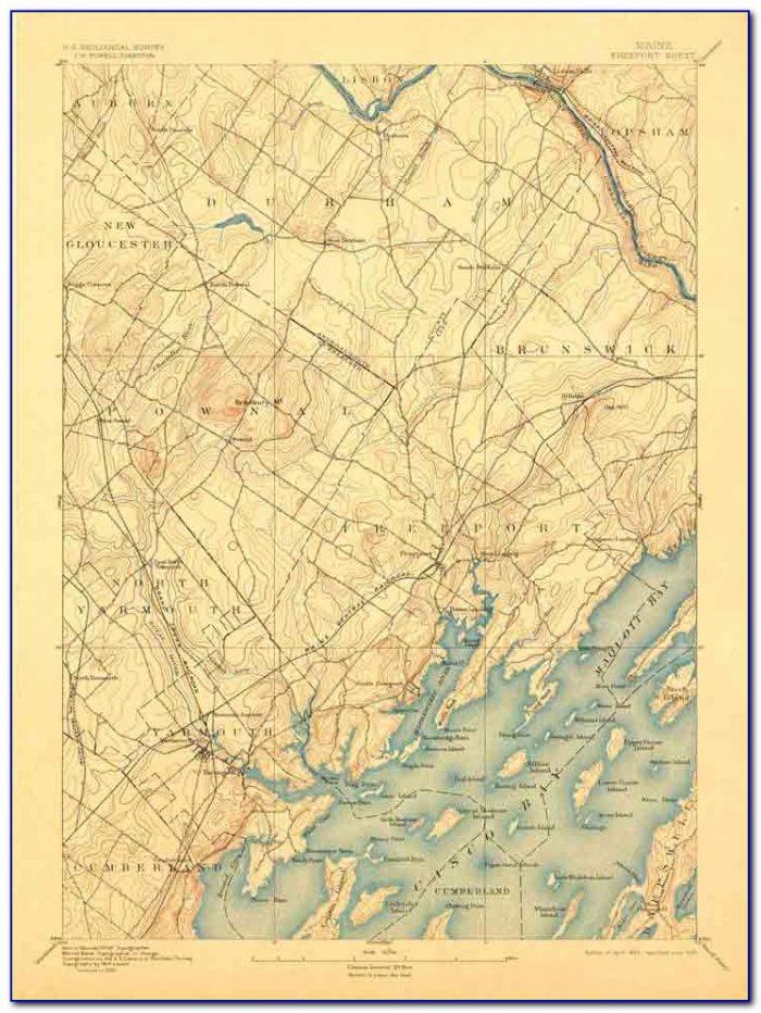 Delorme Gazetteer Maine