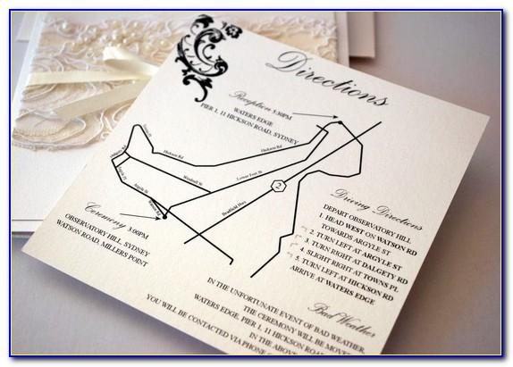 Design Map For Wedding Invitation
