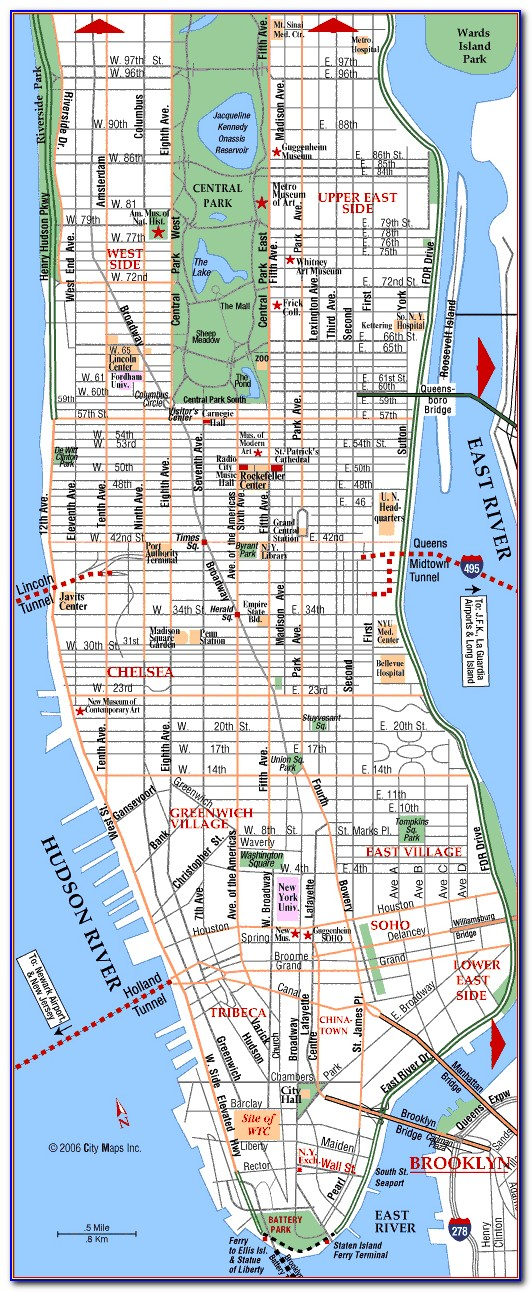 Detailed Map Of Nyc Marathon